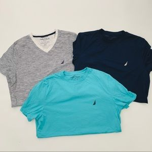 Nautica Bundle of 3 Mens LN Shirts Sz S